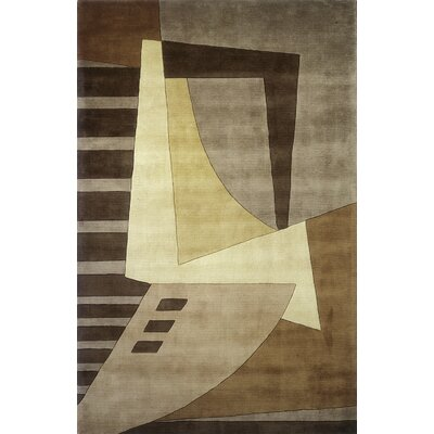 Zed Hand-Tufted Light Brown Area Rug Rug Size: 96 x 136