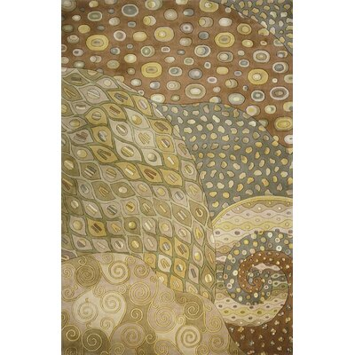 Zed Hand-Tufted Natural Area Rug Rug Size: 8 x 11