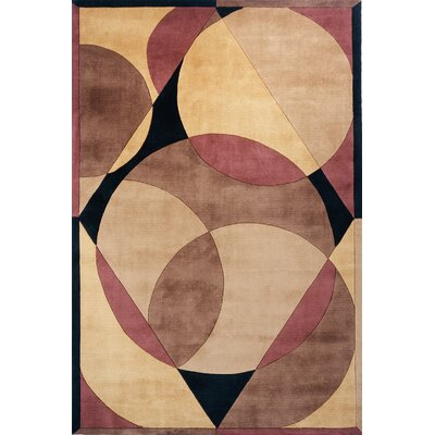 Zed Hand-Tufted Brown Area Rug Rug Size: 8 x 11