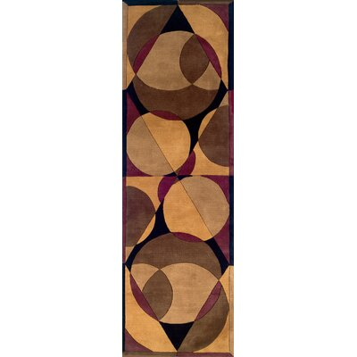 Zed Hand-Tufted Brown Area Rug Rug Size: Runner 26 x 12