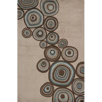 Zed Hand-Tufted Mushroom Area Rug Rug Size: 96 x 136