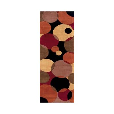 Despina Hand-Woven Black Area Rug Rug Size: Runner 26 x 8
