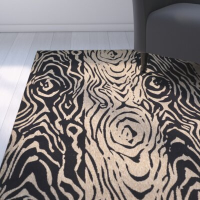 Coffee/Black Area Rug Rug Size: Runner 27 x 82