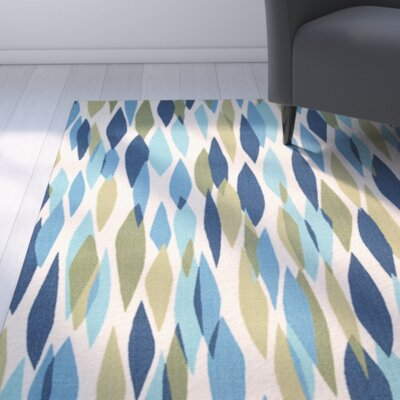 Gloria Blue/Green Indoor/Outdoor Area Rug Rug Size: 43 x 63