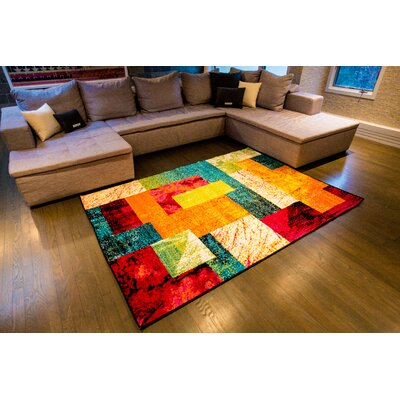 Lyons Multi-Colored Area Rug Rug Size: 52 x 72