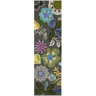 Hayes Hand Woven Gray/Green Indoor/Outdoor Area Rug Rug Size: Runner 23 x 8