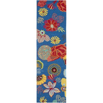 Hayes Hand-hooked Outdoor Area Rug Rug Size: Runner 23 x 8