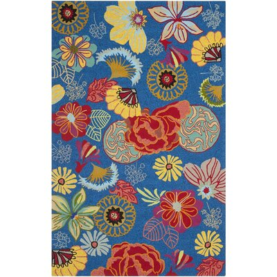 Hayes Hand-hooked Outdoor Area Rug Rug Size: Rectangle 36 x 56