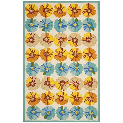 Hayes Orange/Blue Outdoor Area Rug Rug Size: Rectangle 5 x 8