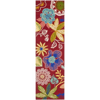 Hayes Floral Indoor/Outdoor Area Rug Rug Size: Runner 23 x 6