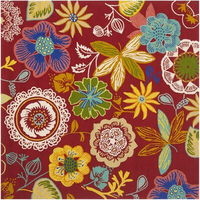 Stacy Floral Indoor/Outdoor Area Rug Rug Size: Square 8