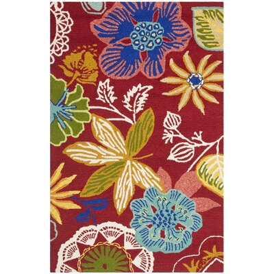 Stacy Floral Indoor/Outdoor Area Rug Rug Size: 26 x 4