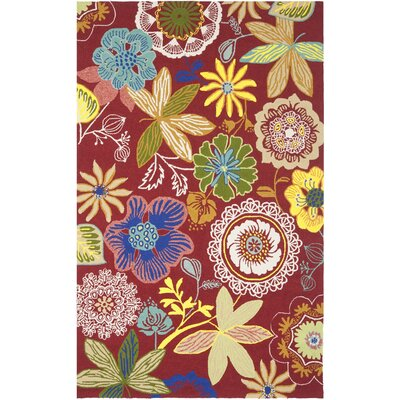 Stacy Floral Indoor/Outdoor Area Rug Rug Size: 6 x 9