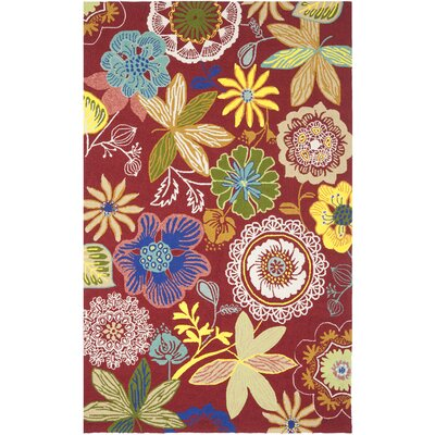 Hayes Floral Indoor/Outdoor Area Rug Rug Size: 76 x 96