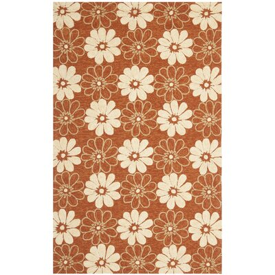 Hayes Rust/Ivory Outdoor Area Rug Rug Size: Rectangle 36 x 56