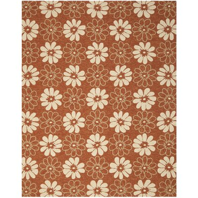 Hayes Rust/Ivory Outdoor Area Rug Rug Size: Rectangle 8 x 10