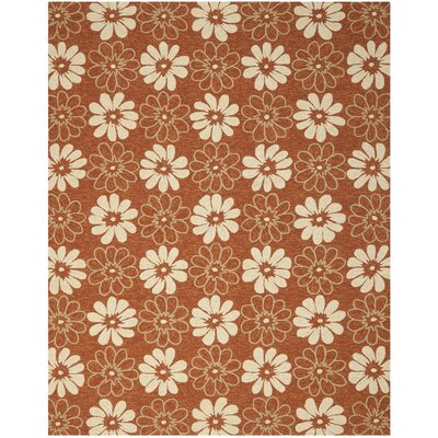 Stacy Rust/Ivory Outdoor Area Rug Rug Size: 8 x 10