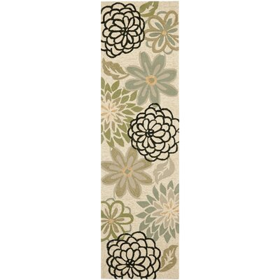 Hayes Beige/Green Indoor/Outdoor Area Rug Rug Size: Runner 23 x 8