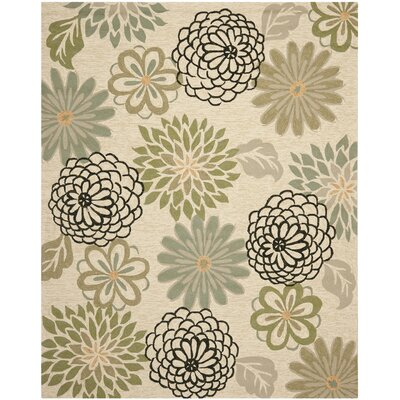 Hayes Beige/Green Indoor/Outdoor Area Rug Rug Size: Rectangle 8 x 10
