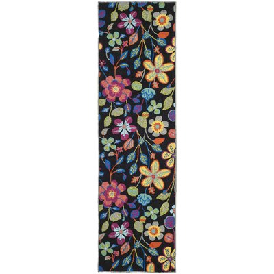 Hayes Floral Outdoor Area Rug Rug Size: Runner 23 x 6