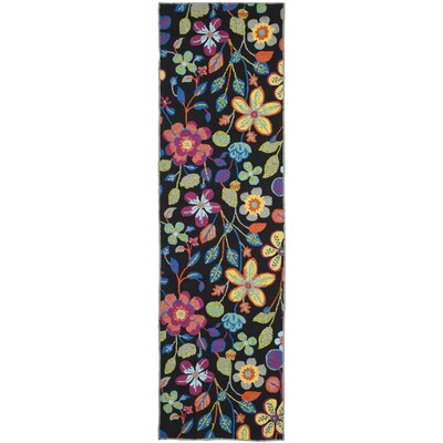 Hayes Floral Outdoor Area Rug Rug Size: Runner 23 x 8