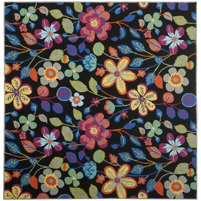 Hayes Floral Outdoor Area Rug Rug Size: Square 6
