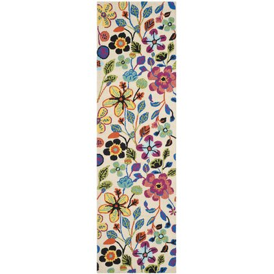 Hayes Flowers Outdoor Area Rug Rug Size: Runner 23 x 8