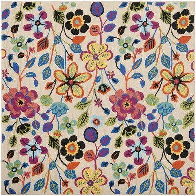 Hayes Flowers Outdoor Area Rug Rug Size: Square 6