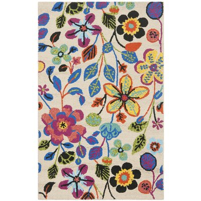Hayes Flowers Outdoor Area Rug Rug Size: Rectangle 24 x 4