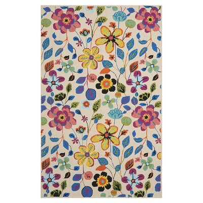 Hayes Flowers Outdoor Area Rug Rug Size: Rectangle 8 x 10