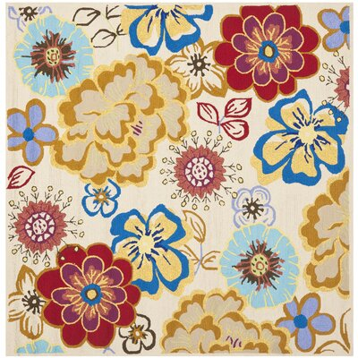 Stacy Yellow/Blue Indoor/Outdoor Area Rug I Rug Size: Square 6