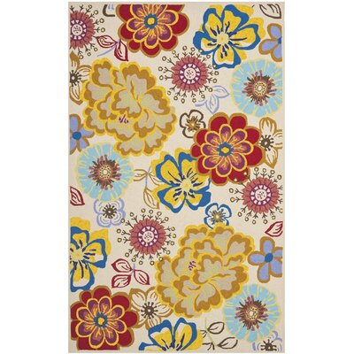 Stacy Yellow/Blue Indoor/Outdoor Area Rug I Rug Size: 76 x 96