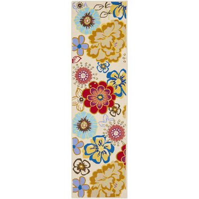 Hayes Yellow/Blue Indoor/Outdoor Area Rug Rug Size: Runner 23 x 8
