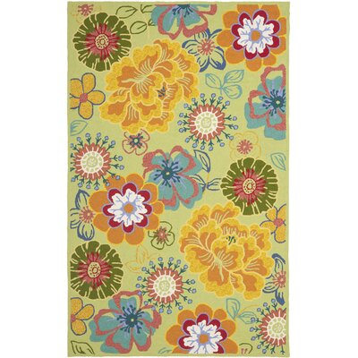 Hayes Moss Indoor/Outdoor Area Rug Rug Size: Rectangle 5 x 7