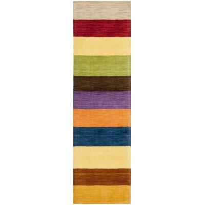 Sherri Hand Woven Wool Beige/Blue/Green Area Rug Rug Size: Runner 23 x 8