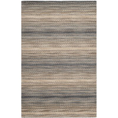 Sherri Grey Stripes Area Rug Rug Size: Rectangle 8 x 10
