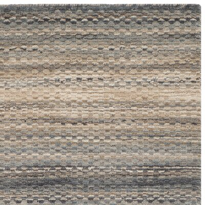 Sherri Grey Stripes Area Rug Rug Size: Square 6