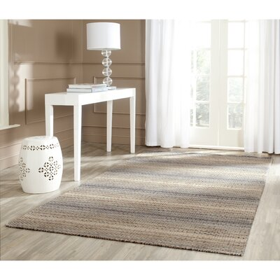 Sherri Grey Stripes Area Rug Rug Size: 6 x 9