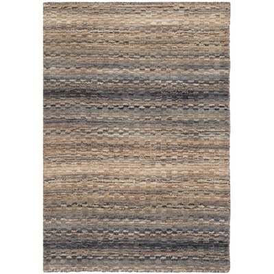 Sherri Grey Stripes Area Rug Rug Size: 2 x 3