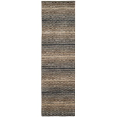 Sherri Grey Stripes Area Rug Rug Size: Runner 23 x 6