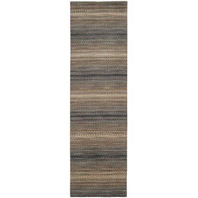 Sherri Grey Stripes Area Rug Rug Size: Runner 23 x 6