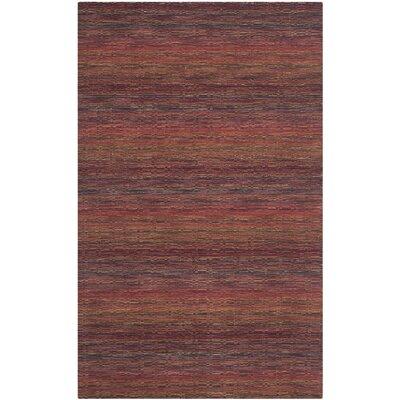 Sherri Red Stripe Area Rug Rug Size: 5 x 8