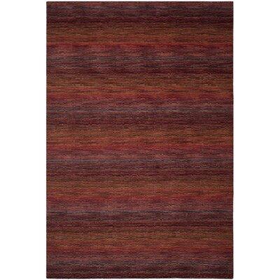 Sherri Red Stripe Area Rug Rug Size: 3 x 5
