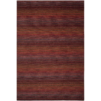 Sherri Red Stripe Area Rug Rug Size: 9 x 12