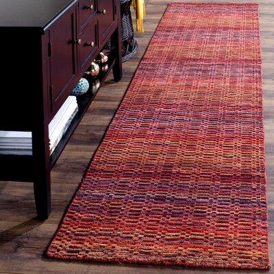 Sherri Red Stripe Area Rug Rug Size: Runner 23 x 6
