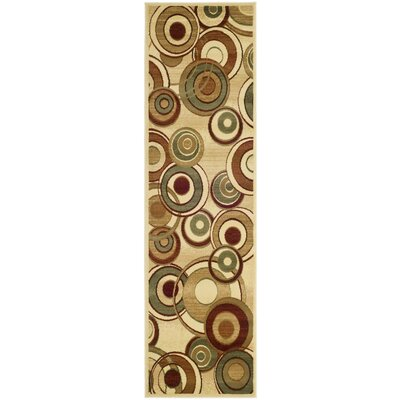 Anne Ivory Area Rug Rug Size: Runner 23 x 12