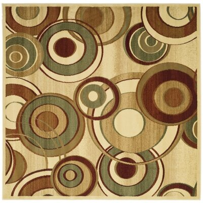 Chani Ivory Area Rug Rug Size: Square 6