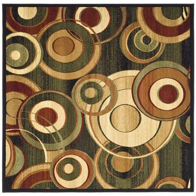 Chani Black Circle Area Rug Rug Size: Square 6'