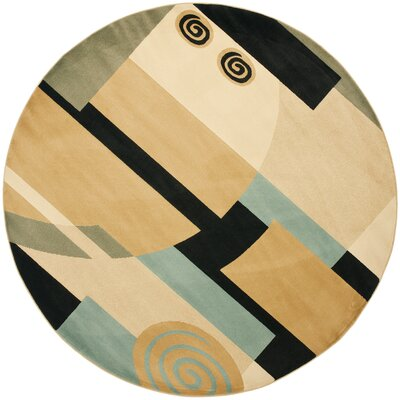 Nanette Tan Area Rug Rug Size: Round 7