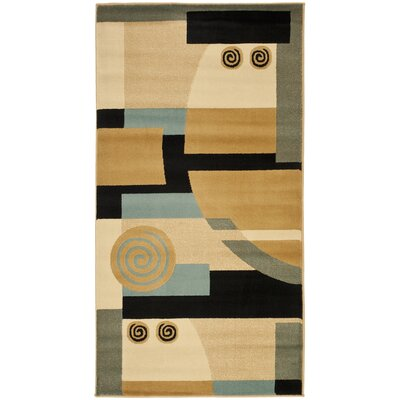 Charis Black/Multi Rug Rug Size: 2 x 37